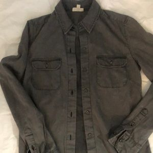 AG Long Sleeve Dark Grey Denim shirt